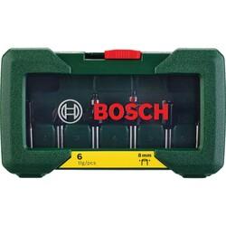 Bosch 6 Parça Freze Seti 8 mm Şaftlı - Thumbnail