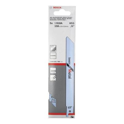 Bosch Basic Serisi Metal için Panter Testere Bıçağı S 918 AF - 5'li BOSCH