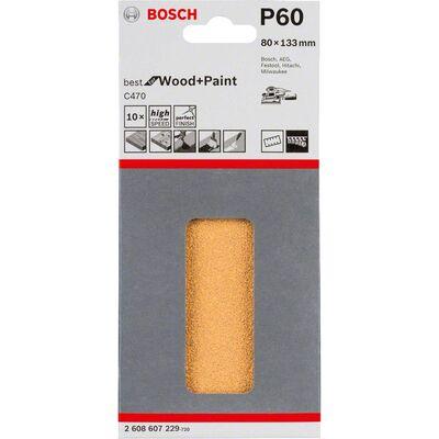 Bosch Best for Serisi Ahşap Zımpara 80 x 133 mm 60 kum 6 Delik BOSCH