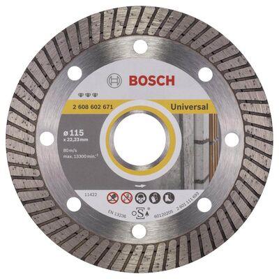Bosch Best Serisi Genel Yapı Malzemeleri İçin Turbo Segmanlı Elmas Kesme Diski 115 mm