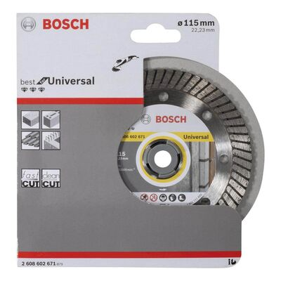 Bosch Best Serisi Genel Yapı Malzemeleri İçin Turbo Segmanlı Elmas Kesme Diski 115 mm BOSCH