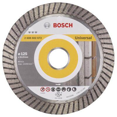 Bosch Best Serisi Genel Yapı Malzemeleri İçin Turbo Segmanlı Elmas Kesme Diski 125 mm