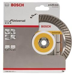 Bosch Best Serisi Genel Yapı Malzemeleri İçin Turbo Segmanlı Elmas Kesme Diski 125 mm - Thumbnail