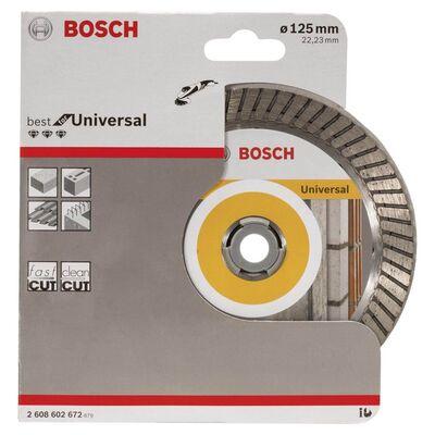 Bosch Best Serisi Genel Yapı Malzemeleri İçin Turbo Segmanlı Elmas Kesme Diski 125 mm BOSCH