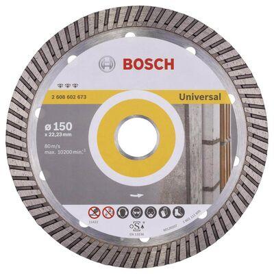 Bosch Best Serisi Genel Yapı Malzemeleri İçin Turbo Segmanlı Elmas Kesme Diski 150 mm