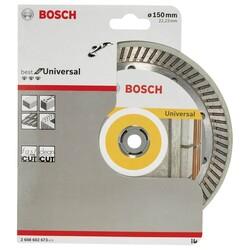 Bosch Best Serisi Genel Yapı Malzemeleri İçin Turbo Segmanlı Elmas Kesme Diski 150 mm - Thumbnail