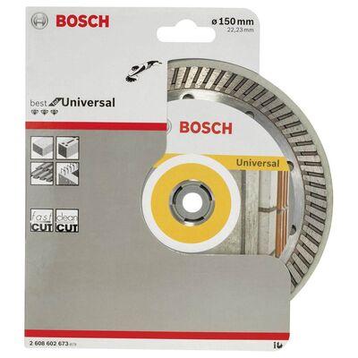 Bosch Best Serisi Genel Yapı Malzemeleri İçin Turbo Segmanlı Elmas Kesme Diski 150 mm BOSCH