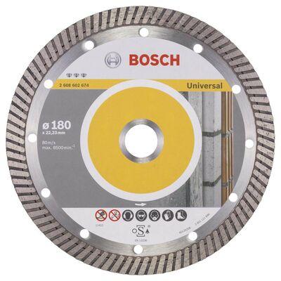 Bosch Best Serisi Genel Yapı Malzemeleri İçin Turbo Segmanlı Elmas Kesme Diski 180 mm