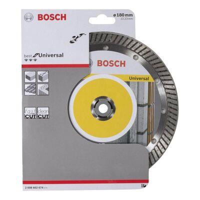 Bosch Best Serisi Genel Yapı Malzemeleri İçin Turbo Segmanlı Elmas Kesme Diski 180 mm BOSCH