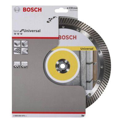 Bosch Best Serisi Genel Yapı Malzemeleri İçin Turbo Segmanlı Elmas Kesme Diski 230 mm BOSCH