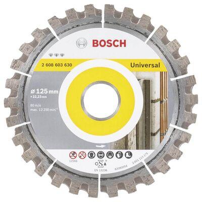 Bosch Best Serisi Genel Yapı Malzemeleri ve Metal İçin Elmas Kesme Diski 125 mm