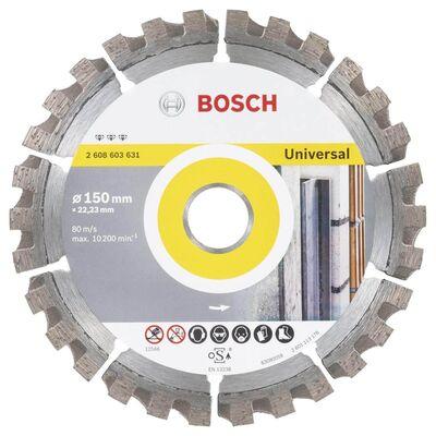 Bosch Best Serisi Genel Yapı Malzemeleri ve Metal İçin Elmas Kesme Diski 150 mm