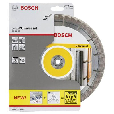 Bosch Best Serisi Genel Yapı Malzemeleri ve Metal İçin Elmas Kesme Diski 230 mm BOSCH