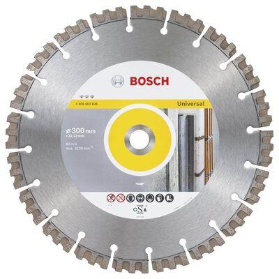 Bosch Best Serisi Genel Yapı Malzemeleri ve Metal İçin Elmas Kesme Diski 300 mm