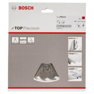Bosch Best Serisi Hassas Kesim Ahşap için Daire Testere Bıçağı 165*20 mm 20 Diş BOSCH