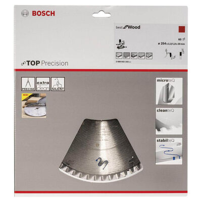Bosch Best Serisi Hassas Kesim Ahşap için Daire Testere Bıçağı 254*30 mm 60 Diş BOSCH