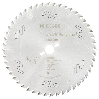 Bosch Best Serisi Hassas Kesim Ahşap için Daire Testere Bıçağı 300*30 mm 48 Diş