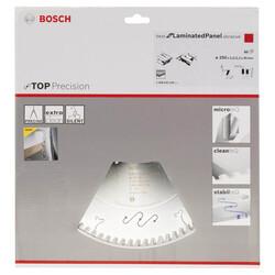 Bosch Best Serisi Hassas Kesim Aşındırıcı Kaplamalı Lamine Panel için Daire Testere Bıçağı 250*30 mm 80 Diş - Thumbnail