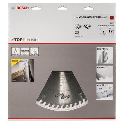 Bosch Best Serisi Hassas Kesim Aşındırıcı Kaplamalı Lamine Panel için Daire Testere Bıçağı 303*30 mm 60 Diş BOSCH