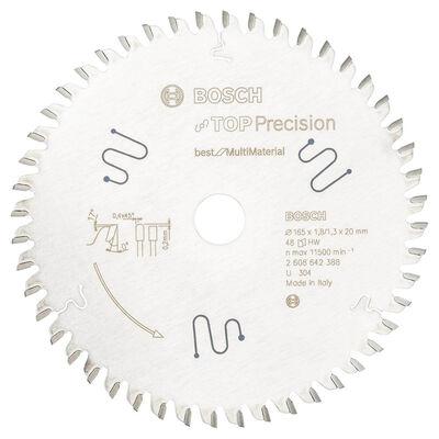 Bosch Best Serisi Hassas Kesim Çoklu Malzeme için Daire Testere Bıçağı 165*20 mm 48 Diş