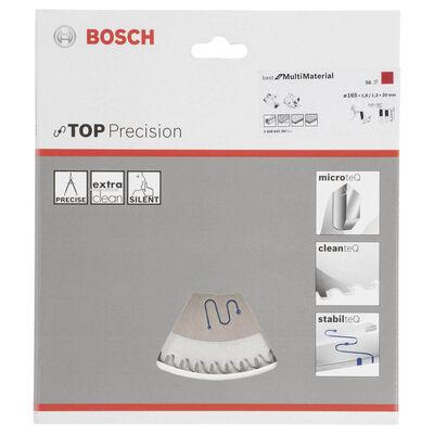 Bosch Best Serisi Hassas Kesim Çoklu Malzeme için Daire Testere Bıçağı 165*20 mm 56 Diş BOSCH