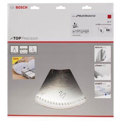 Bosch Best Serisi Hassas Kesim Çoklu Malzeme için Daire Testere Bıçağı 305*30 mm 96 Diş BOSCH