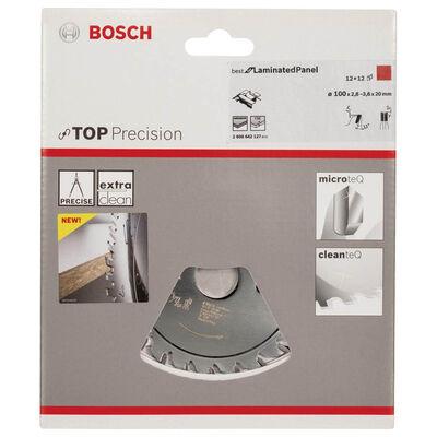 Bosch Best Serisi Hassas Kesim Lamine Panel için Ön Çizme Bıçağı 100*20 mm 12+12 Diş BOSCH