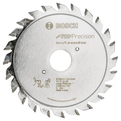 Bosch Best Serisi Hassas Kesim Lamine Panel için Ön Çizme Bıçağı 120*22 mm 12+12 Diş