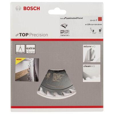 Bosch Best Serisi Hassas Kesim Lamine Panel için Ön Çizme Bıçağı 120*22 mm 12+12 Diş BOSCH