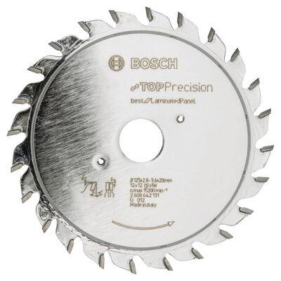 Bosch Best Serisi Hassas Kesim Lamine Panel için Ön Çizme Bıçağı 125*20 mm 12+12 Diş