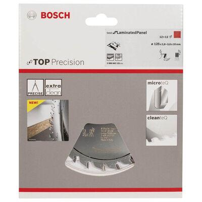 Bosch Best Serisi Hassas Kesim Lamine Panel için Ön Çizme Bıçağı 125*20 mm 12+12 Diş BOSCH