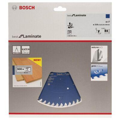 Bosch Best Serisi Laminant için Daire Testere Bıçağı 216*30 mm 60 Diş BOSCH