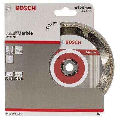 Bosch Best Serisi Mermer İçin Elmas Kesme Diski 125 mm BOSCH