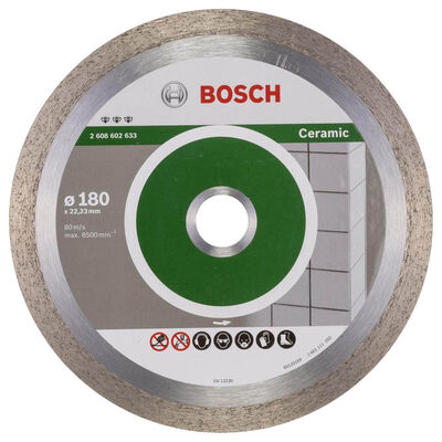 Bosch Best Serisi Seramik İçin, Elmas Kesme Diski 180 mm