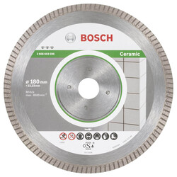 Bosch Best Serisi Seramik İçin, Extra Temiz Kesim Turbo Segman Elmas Kesme Diski 180 mm - Thumbnail