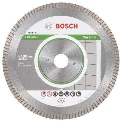 Bosch Best Serisi Seramik İçin, Extra Temiz Kesim Turbo Segman Elmas Kesme Diski 180 mm