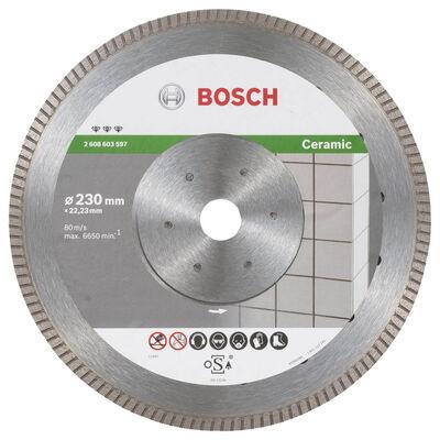 Bosch Best Serisi Seramik İçin, Extra Temiz Kesim Turbo Segman Elmas Kesme Diski 230 mm