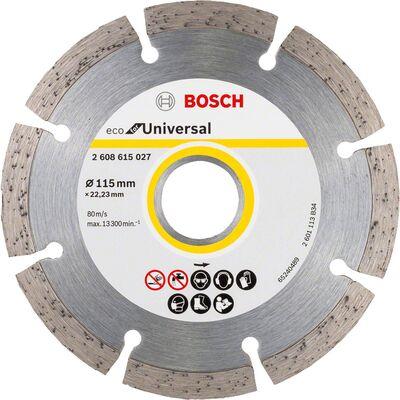 Bosch Ekonomik Seri 9+1 Genel Yapı Malzemeleri İçin Elmas Kesme Diski 115 mm
