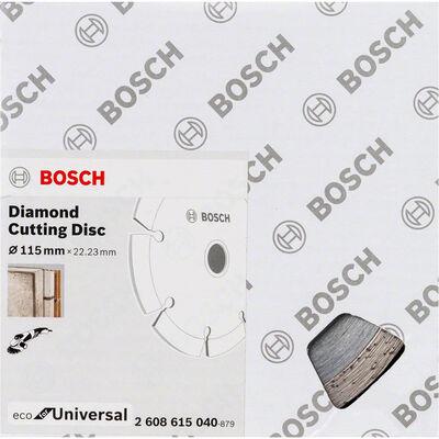 Bosch Ekonomik Seri 9+1 Genel Yapı Malzemeleri İçin Elmas Kesme Diski 115 mm BOSCH