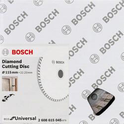 Bosch Ekonomik Seri 9+1 Genel Yapı Malzemeleri İçin Elmas Kesme Diski 115 mm Turbo - Thumbnail