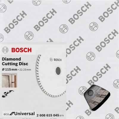 Bosch Ekonomik Seri 9+1 Genel Yapı Malzemeleri İçin Elmas Kesme Diski 115 mm Turbo BOSCH