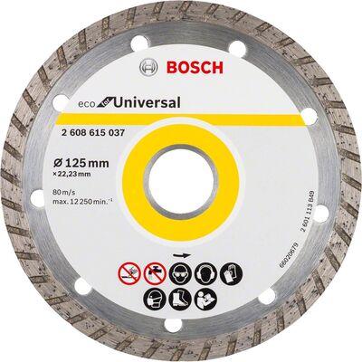Bosch Ekonomik Seri 9+1 Genel Yapı Malzemeleri İçin Elmas Kesme Diski 125 mm Turbo