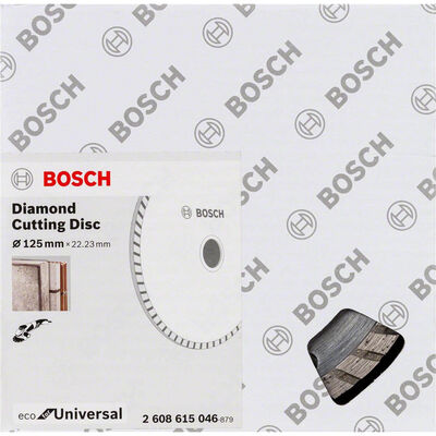 Bosch Ekonomik Seri 9+1 Genel Yapı Malzemeleri İçin Elmas Kesme Diski 125 mm Turbo BOSCH