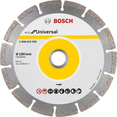 Bosch Ekonomik Seri 9+1 Genel Yapı Malzemeleri İçin Elmas Kesme Diski 180 mm