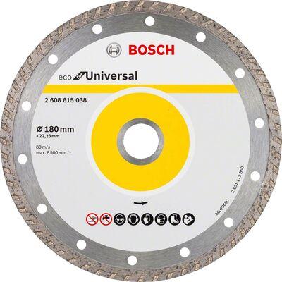 Bosch Ekonomik Seri 9+1 Genel Yapı Malzemeleri İçin Elmas Kesme Diski 180 mm Turbo