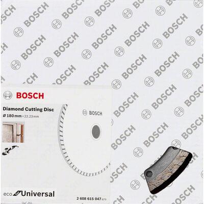 Bosch Ekonomik Seri 9+1 Genel Yapı Malzemeleri İçin Elmas Kesme Diski 180 mm Turbo BOSCH