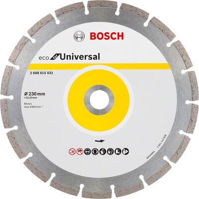Bosch Ekonomik Seri 9+1 Genel Yapı Malzemeleri İçin Elmas Kesme Diski 230 mm