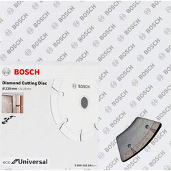 Bosch Ekonomik Seri 9+1 Genel Yapı Malzemeleri İçin Elmas Kesme Diski 230 mm - Thumbnail
