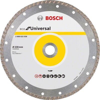 Bosch Ekonomik Seri 9+1 Genel Yapı Malzemeleri İçin Elmas Kesme Diski 230 mm Turbo