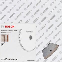 Bosch Ekonomik Seri 9+1 Genel Yapı Malzemeleri İçin Elmas Kesme Diski 230 mm Turbo - Thumbnail